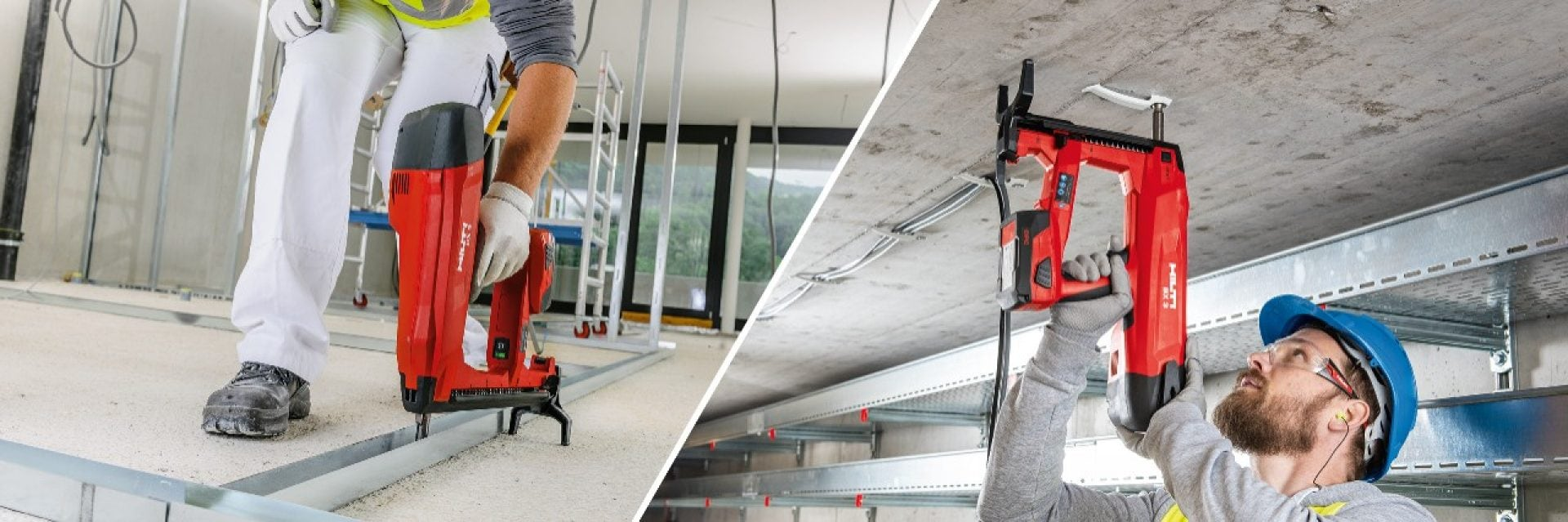 Make the switch to the battery-powered BX 3, the cordless nailer designed to be cleaner, quieter and more hassle-free fastenings to concrete than any other nailer