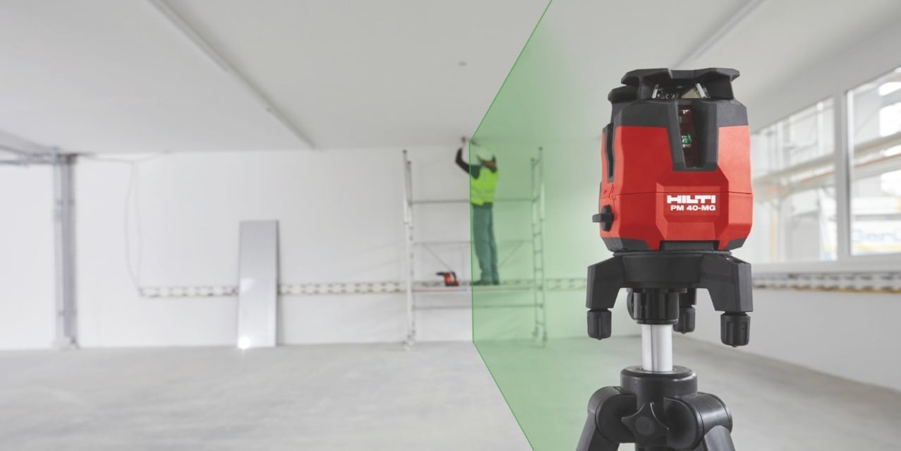 Hilti PM 40-MG multi-line laser with latest green beam technology