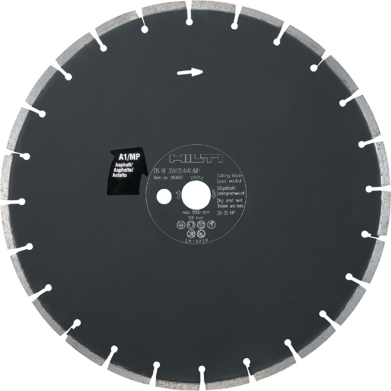 Floor saw blade asphalt A1/MP Premium floor saw blade (20-35 HP) for floor sawing machines – designed for cutting asphalt