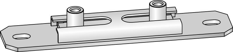MSG-UK Premium galvanized cross slide connector for light-duty heating and refrigeration applications