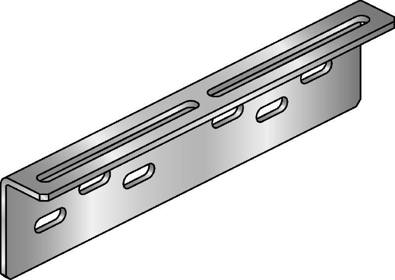 MIC-UB Hot-dip galvanized (HDG) connector for fastening U-bolts to MI girders with greater adjustability