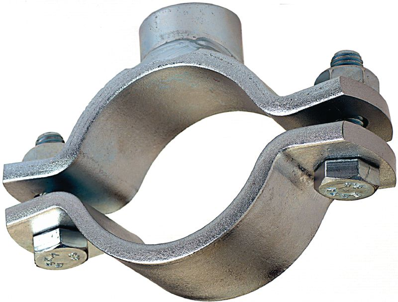 MFP-L Premium galvanized fixed point pipe clamp for maximum performance in light-duty piping applications