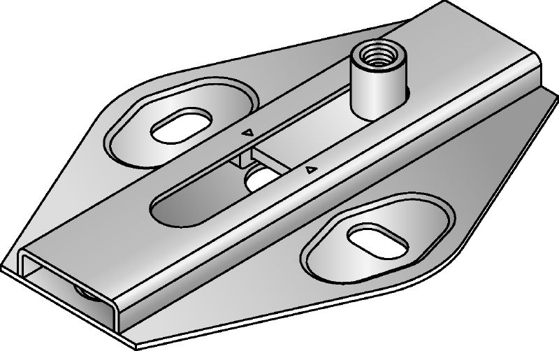 MSG 1.0 Premium galvanized slide connector for light-duty heating and refrigeration applications