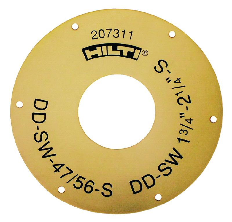 DD-SW-S Sealing for the DD-WC-S water dam for core bit diameters from 8 mm (5/16) to 87 mm (3 7/16)